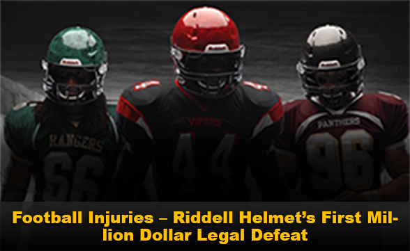 Football Injuries - Riddell Helmet's First Million Dollar Legal Defeat